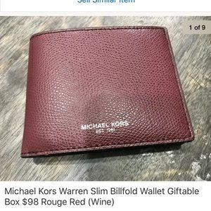 6e3646638fc5e2 Michael Kors · Warren Men's Slim Billfold Wallet ...